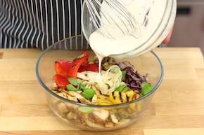 Zapiekanka makaronowa z warzywami i grillowanym kurczakiem – krok 3
