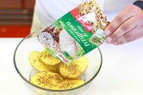 Ziemniaki z koprem włoskim i śmietaną     – krok 2