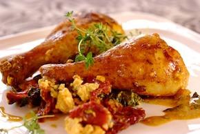 Pałki z kurczaka z pomidorami