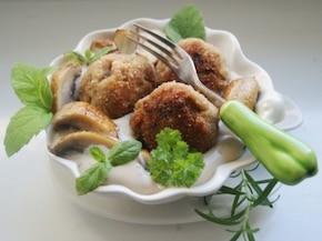 Ziołowe mielone w sosie śmietanowo-grzybowym