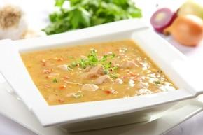 Zupa grochowa na wieprzowinie
