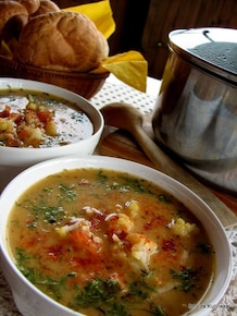 Zupa jarzynowa z jagłami