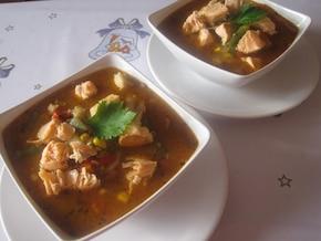 Zupa rybna  z ryb mieszanych i warzyw