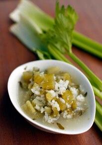 Zupa selerowa z ryżem