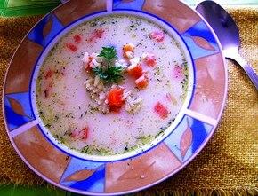 Zupa serowo-kokosowa z ryżem