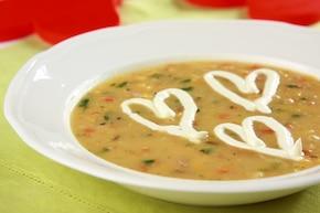 Zupa z czerwonej soczewicy z łososiem  – krok 4