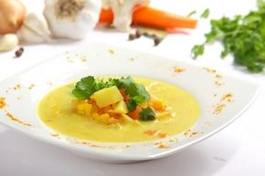 Zupa z kukurydzą z jarzynami