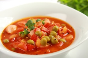 Zupa z papryki i parówek