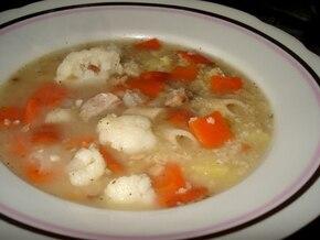Zupa z soczewicą i kaszą jaglaną