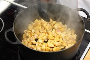 Zupa kukurydziana z chrupiącą chorizo – krok 2