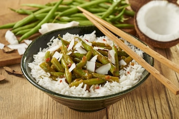 Fasolka szparagowa z ryżem