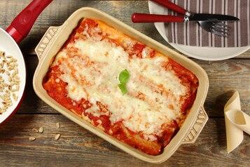 Cannelloni z mozzarellą i suszonymi pomidorami