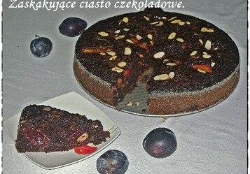 Ciasto czekoladowe ze śliwkami i octem, ale bez jaj :)