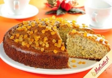 Ciasto pomarańczowe z makiem