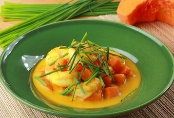 Curry z krewetkami i dynią