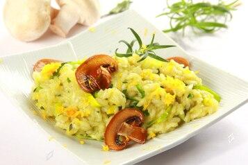 Cytrynowe risotto z porami i rozmarynem