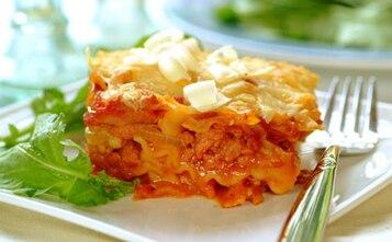 Lasagne z boczkiem i parmezanem