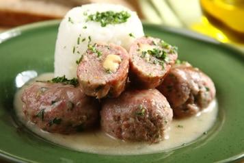 Drobiowe pulpeciki z sosem pieczarkowym