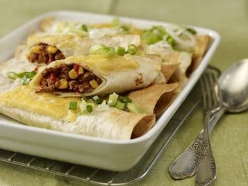 Enchiladas z chilli con carne