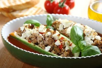 Faszerowane kabaczki z serem feta