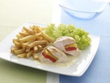 Kieszonki z kurczaka z kolorową papryką