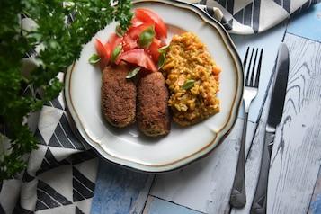 Kotleciki z tuńczyka i kaszotto orientalne