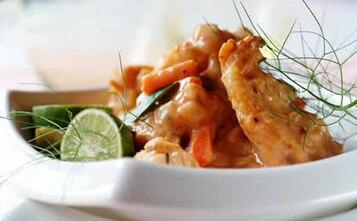 Kremowy rybny gulasz