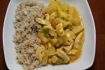 Kurczak po hawajsku z ryżem