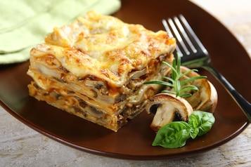 Lasagne z grzybami leśnymi