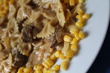 Makaron z wołowiną