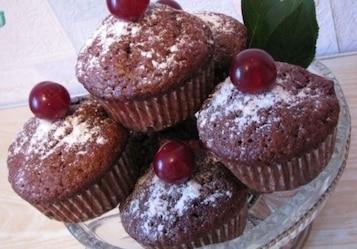 Muffinki czeko-wiśniowe