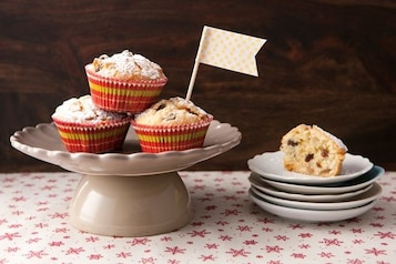 Muffinki z bakaliami i marcepanem