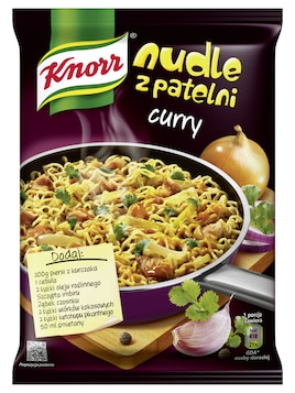 Nudle z patelni curry Knorr
