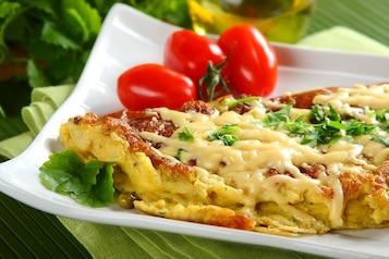 Omlet francuski z groszkiem