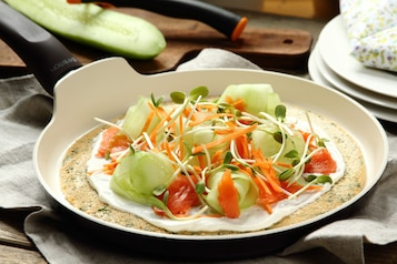 Omlet z warzywami i otrębami