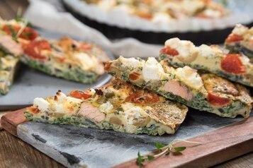 Omlet z rybą z piekarnika
