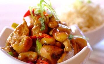 Orientalny kurczak z orzeszkami cashew