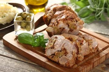 Pieczona karkówka z mięsem mielonym po włosku