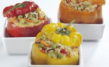 Pieczone papryki z wegetariańskim farszem