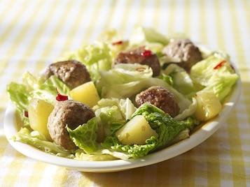 Pikantne klopsiki z kapustą i ziemniakami