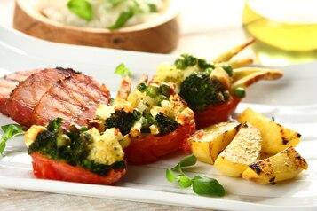 Pomidorki faszerowane warzywami z patelni
