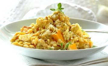 Risotto z dynią i słodkimi ziemniakami