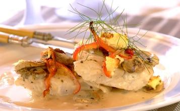 Ryba z sosem pieczarkowym