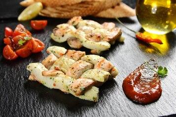 Rybi warkocz  z pomidorową salsą