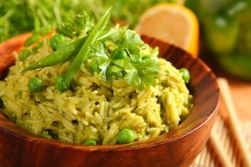 Ryż na zielono