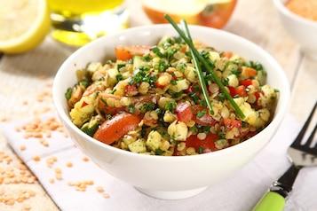 Sałatka z soczewicą i warzywami