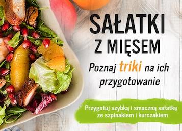 Sałatki z mięsem - Infografika