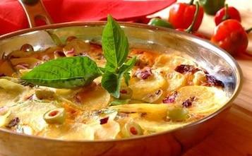 Serowy omlet z ziemniakami