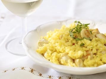 Szafranowe risotto z kurczakiem