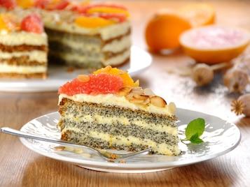 Tort makowy z budyniem